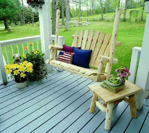 Our Outdoor Log Furniture Products - Outdoor log furniture