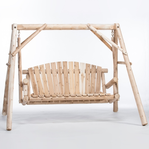 Ready to relax in our Cedar Log 5ft Yard Swing