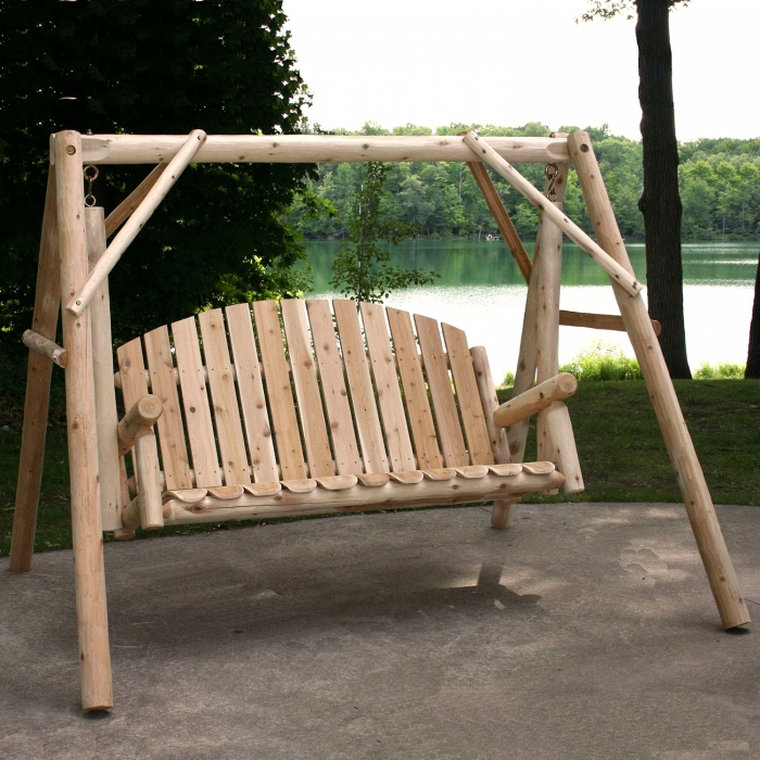 Ready to relax in a Country Garden Yard Swing