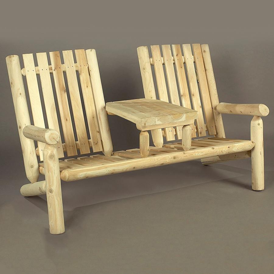 Cedarlooks 11007TT Log Garden Tea Set Bench Benches Patio, Lawn ...