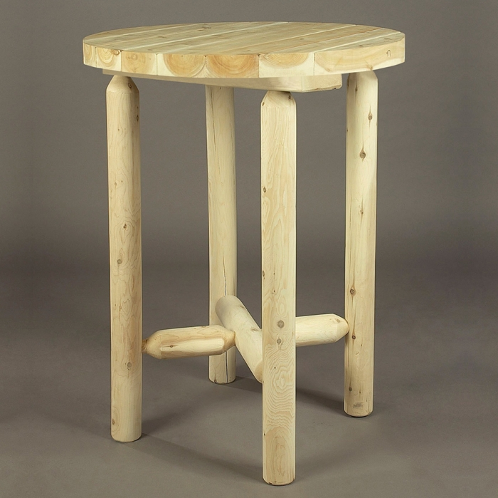 Rustic Cedar Log Bistro Table