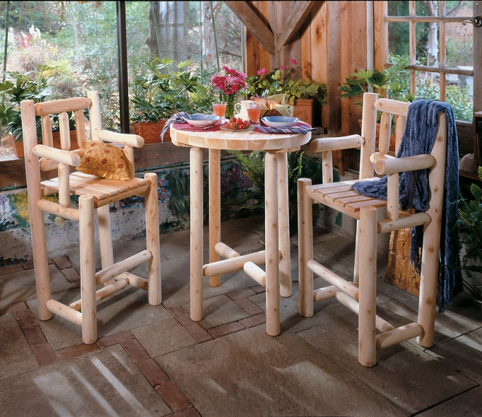 Come relax with our Cedar Bistro Table