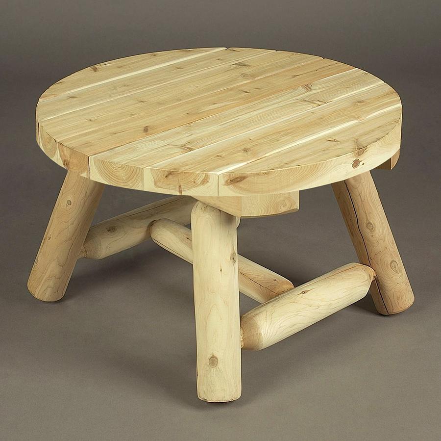 Cedar Looks Round Log Coffee Table