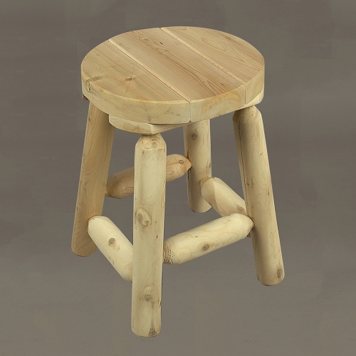 "Use this 18"" Log Stool as a seat or stepping stool."