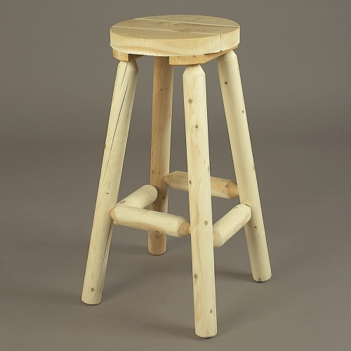 "Cedar Looks 30"" log Bar Stool"