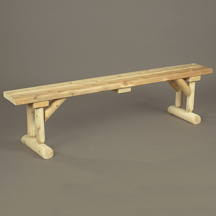 Take a seat around a table with this dining bench.